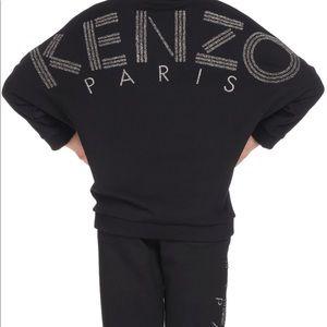Kenzo logo print v-neck sweater